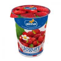 Alma jogurts ar meža zemenēm un vaniļu 2% 380g