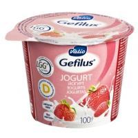 Valio Gefilus jogurts ar zemeņu piedevu 2% 100g
